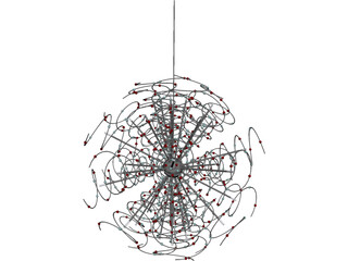 Outburst Crystal and Halogen Chandelier 3D Model