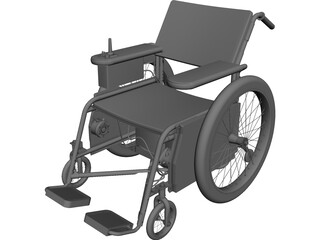 Wheelchair CAD 3D Model