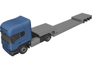 Scania with Trailer 3D Model