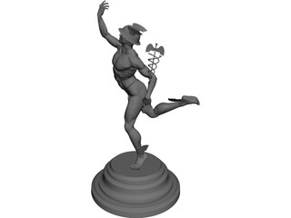 Hermes statuette 3D Model 3D Preview