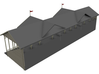 Cricket Stadium Spectator Stand 3D Model