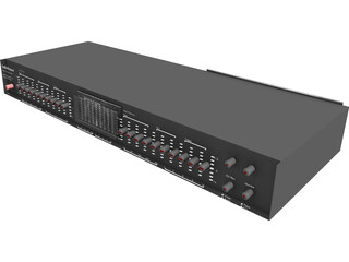 Graphic Equalizer 3D Model