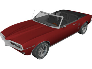 Pontiac Firebird Convertible 3D Model