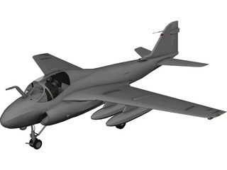 Grumman A-6E Intruder 3D Model