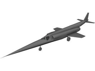 Douglas X-3 Stiletto 3D Model