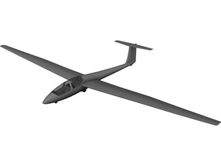 Schleicher ASK 21 Glider 3D Model