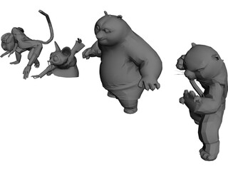 Kung Fu Panda 3D Model 3D Preview
