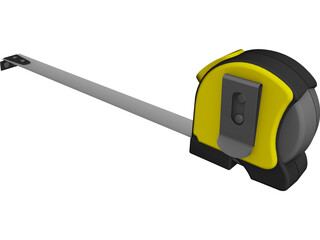 Retractible Tape Measure 3D Model