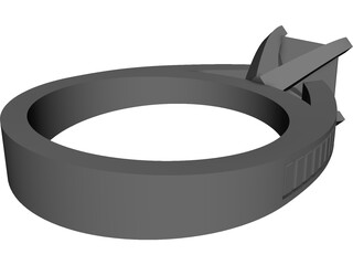 Wedding Ring CAD 3D Model