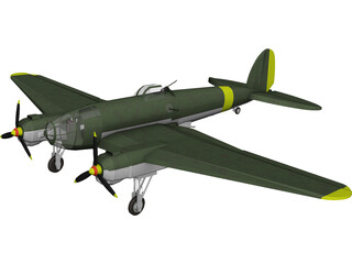 Heinkel He 111 Medium Bomber 3D Model