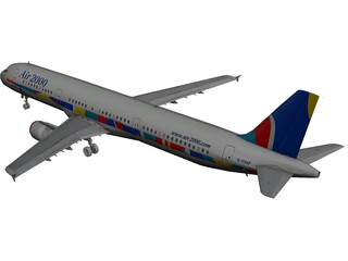 Airbus A321 Air 2000 3D Model 3D Preview