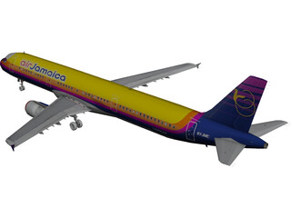 Airbus A321 Air Jamaica 3D Model