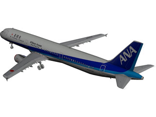Airbus A321 All Nippon 3D Model