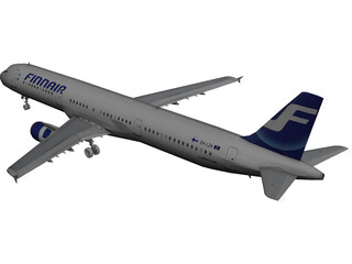 Airbus A321 FinnAir 3D Model