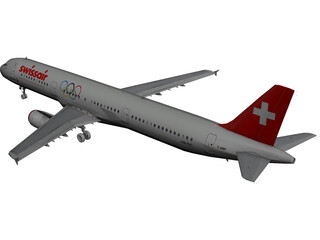 Airbus A321 SwissAir 3D Model
