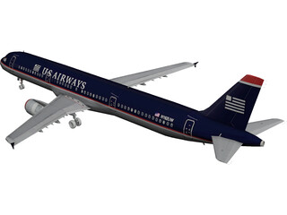 Airbus A321 US Airways 3D Model