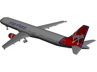 Airbus A321 Virgin Atlantic 3D Model