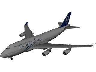 Boeing 747-400 Air New Zealand 3D Model
