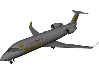 Bombardier CRJ-200 Air Canada Jazz 3D Model