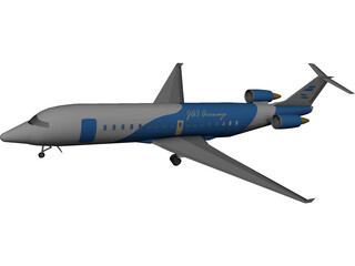 Bombardier CRJ-100 Jazz Airways 3D Model