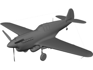 Curtiss P-40 3D Model