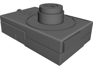 Canon Digital Ixus 2 Photo Camera CAD 3D Model