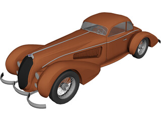 Alfa Romeo 8C (1938) 3D Model 3D Preview