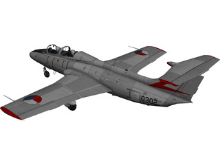 Aero L-29 Czech Air Force 3D Model