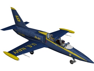 Aero L-39 Albatros US Navy 3D Model