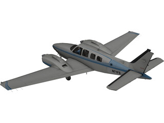 Beechcraft Baron B58 3D Model