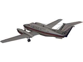 Beechcraft King Air B200C 3D Model