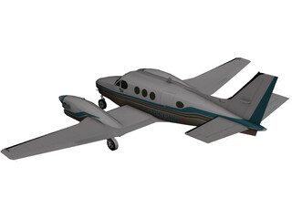 Beechcraft King Air C90B 3D Model