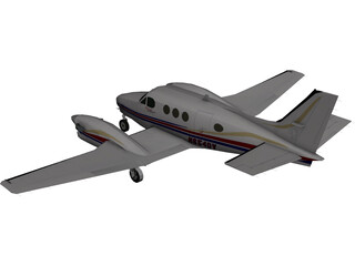 Beechcraft King Air C90GT 3D Model