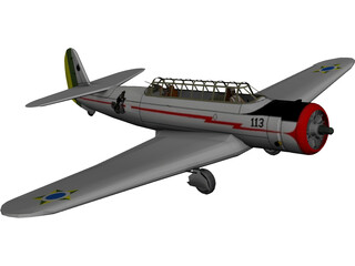 Vultee V-11GB (A-19) 3D Model