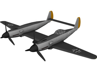 Messerschmitt ME 609 3D Model