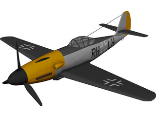 Messerschmitt ME 309 3D Model