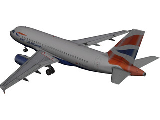 Airbus A319 British Airways 3D Model