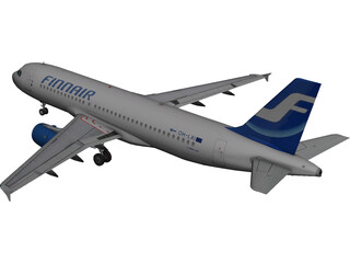 Airbus A320 FinnAir 3D Model