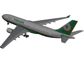 Airbus A330-200 Eva Air 3D Model