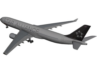 Airbus A330-300 Thai 3D Model 3D Preview