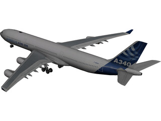 Airbus A340-300 3D Model 3D Preview