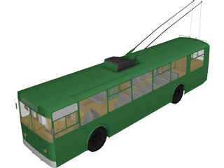 Trolleybus Russian 3D Model