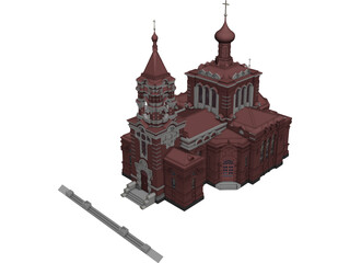 Church Russian 3D Model