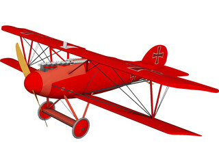 Albatros D.V 3D Model 3D Preview