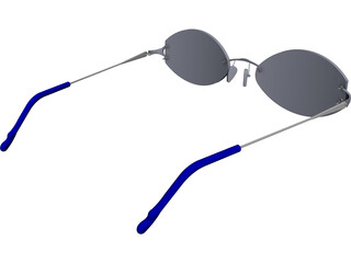 Glasses CAD 3D Model