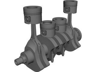Engine Diesel CAD 3D Model