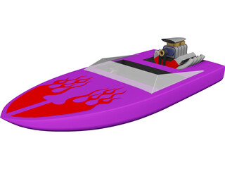 Speed Power Boat 3D Model