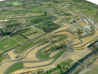 Le Mans Racing Circuit 3D Model