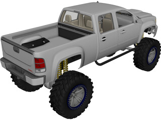 GMC Sierra [Lifted] 3D Model