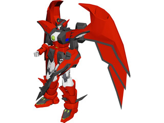 Oz-MS13 Gundam Epyon 3D Model